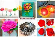 manualidades flores