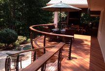 South Carolina deck / A railing we made for a elevated deck on Lake Keowee South Carolina.