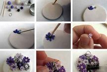 pandant flori violet