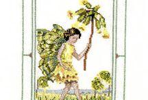 Cross stitch Flower Fairy's