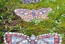 Steine und Mosaik