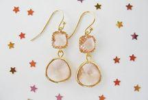 Peach / Blush bridesmaids jewelry