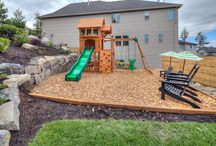 """Outdoor """"Kids Corners"""" / Hey, what a minute - we forgot to add a kids outdoor play area board! These spaces are very important to each and every family! Hurry up spring and summer - kids need to get outside!"""