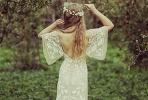 Bohemian wedding gowns