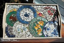 Mosaic Magic / Love, love, love using what you have to make something beautiful. Works with tiles and works with people.