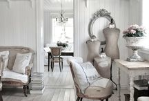 french rustic vintage interiors