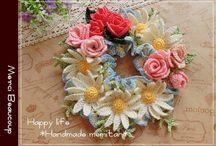 編み物 花