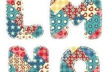 Molde letras de tecido