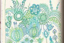 zentangles colour