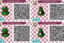 Animal Crossing New Leaf / Quelques QR codes pour récupérer de nouveaux vêtements dans le jeu. Allez voir les sœurs Cousette pour les obtenir.