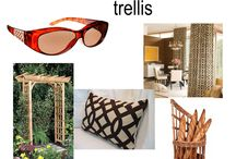 Trellis / woven, crossed, fretwork, imperial trellis.... dimension and texture