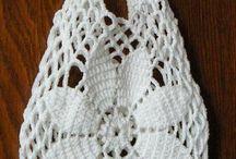 Horgolt táska-kosár, crochet bag