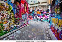 Street Art - backdrop for Melbourne's style