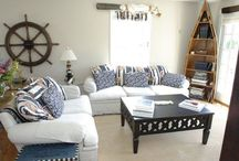 Coastal & Nautical Interior Design Styles / The coastal look is comfortable, clean and fresh. Typical coastal-style homes play with shades of blues and whites, weaving in nautical striped accents. Furniture is made from rattans, wickers and raw woods such as reclaimed or salvaged woods and accessories are seaside inspired and include shells, sea-glass and bottles. The overall feel is bright, breezy and casual.