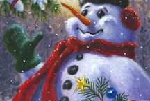 Seasons Greetings Painting - / Kort