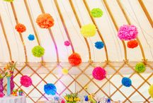 Brightly coloured weddings  / Beautiful and brightly coloured wedding ideas