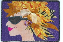 Fabric Faces / Inspiration for an upcoming postcard swap I'll be involved with. / by Sheree McKee