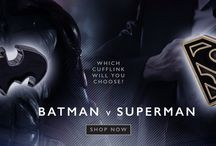 Batman V Superman Cufflinks Collection / The Cufflinkman Batman v Superman cufflinks collection has arrived. Batman v Superman cufflinks from Cufflinkman.co.uk Batman v Superman which cufflink will you choose?