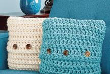 Crochet cushion coverd