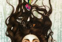 Meisje met vogels in haar haar