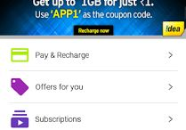 IDEA Prepaid Internet Trick: Get Upto 1 GB 3G/2G Data for Just Re.1 Only