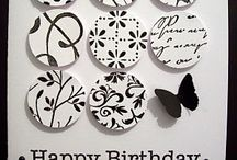 A Black and white birthday cards