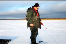 Ловля хариуса зимой на Байкале.