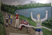 Murals and signwriting for Business / Murals can be used to advertise a business or provide information about a company and it's ethics, products or mission statements. We also offer workshops for employees as a team building exercise.