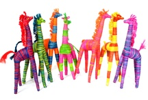 Giraffes / Fabulous raffia giraffes from Madagascar - fair trade and handmade - to grace bedrooms, halls, conservatories! The perfect pet - no food, walking or litter tray required.