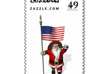 Unique Christmas Postage Stamps / funny sweet postage stamps for your christmas mail envelopes