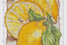 Cross stitch - lemons