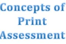Concepts of Print / Concepts of print are important for children to learn at a young age. They must know how to hold a book, text directionality, and the function of print. They must also learn that print can be used to communicate information. This knowledge provides a foundation for early literacy (Balanced Literacy Diet).