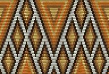 patrones para mochilas wayuu / figuras geometricas