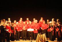 """Concerto Corale - """"Dauphinelle Chorale de Saint Ismier"""" / Concerto corale che ha visto impegnati la corale francese """"Dauphinelle Chorale de Saint Ismier"""" e il coro folkloristico abruzzese """"La Figlia di Jorio"""" di Orsogna. Alla fine dello spettacolo, le due corali hanno festeggiato insieme...come solo 2 corali possono fare!"""