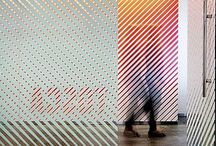 RADIUS / Meeting room glass wall graphics. Opacity, transparency, translucens