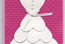 Tarjeta corazón novia