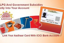 Link Aadhaar Card with Bank Account / Link Aadhaar Card with all your Bank Account like ICICI, axis, sbi, hdfc to get government subsidy into account directly...