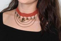 SHOPMASTERR / Choker, Black necklace, colorful necklace, colorful choker, hunger game,