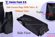 Side Gusset Bags / We are manufacturers of Paper Side Gusset Bags and Plastic Side Gusset Bags with valve and without valve that is also known as Quad Seal Bags.