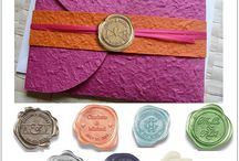 Wedding Wax Seals Wax  Wedding Wax Stamp Wedding Wax Seal Stickers / A classic collection of wax seals declaring the beauty of matrimony!  A collection of brass wax seal stamps and wax peel and stick labels