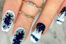 новогодние дизайны для ногтей