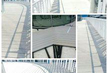 LAVORO FINITO: Pavimentazione in  WPC / pavimentazioni per esterno , doghe in legno, doghe in legno e pvc, allestimenti terrazze,Rehau Italia.