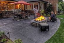 stained concrete patio ideas
