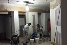 """Commercial Interior painting projects / At Painting Oregon """"It's all in the Prep"""" does not change just because the project is a commercial interior.  Check out this board to see the team tackling all sort of commercial interior painting project in Portland."""