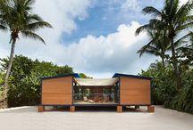 Beachhouses, waterfront