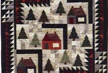 house, tree quilts