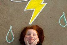 Sidewalk chalk pics