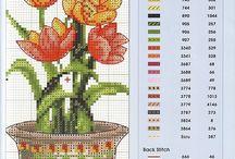 Cross Stitch - Flowers & plants