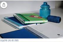 Cuadernos Arco Iris / | 125 páginas | Páginas lisas | Medida A5: 14,8 x 21,0 cm | Medida A6: 10,5 x 14,8 cm. Cuadernos de tapa dura forrados en tela de colores, con hojas lisas blancas.