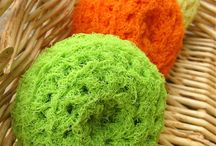 Crocheted scrubbes